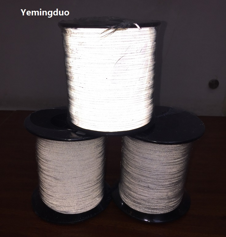 1.0mm high light reflective thread high visibility two side reflective effection cute smile faces high visibility