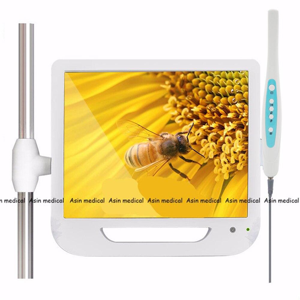 Nouvelle Arrivée 17 Pouce Moniteur USB/Wifi Intra Endoscope Endoscope Caméra 6 Led Caméra Dentaire Caméra Lumière Dentaire Dentiste