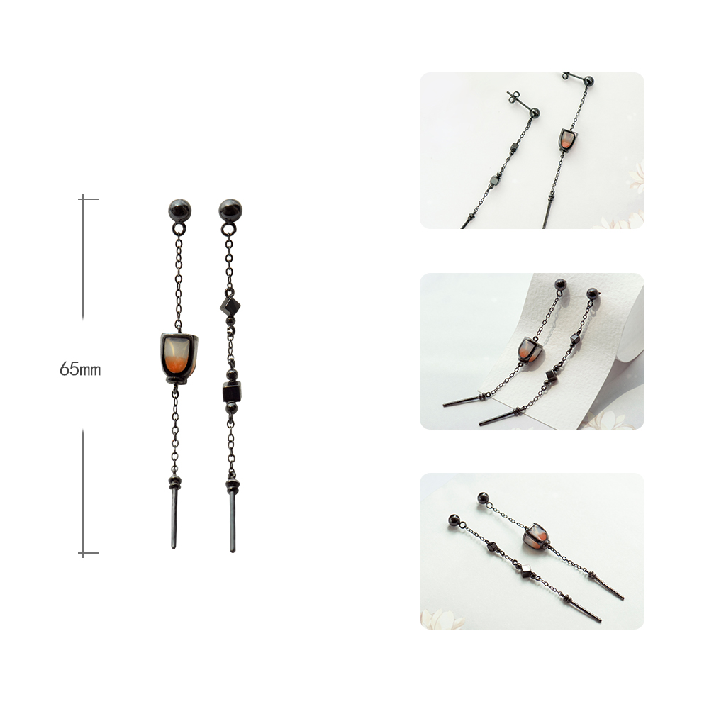 Thaya Vintage Pendant Earrings Dropping Pearl Lantern Handmade s925 sterling Silver Studs For Women Female Fine Jewelry