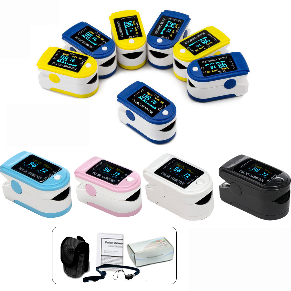 CE FDA Oximetro CMS50D Finger Pulse Oximeter Blood Oxygen SpO2 Saturation Monitor Pulse Rate Alarm Meter  gpyoja probe heart pulse rate blood oxygen sensor paitent monitor spo2 finger oxi meter