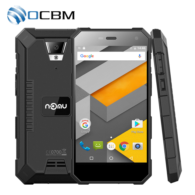 "In Stock Nomu S10 5.0""HD Quad Core 2GB RAM 16GB ROM MTK6737T Android 6.0 8.0MP 1280x720 5000mAh IP68 Waterproof Mobile Phone"