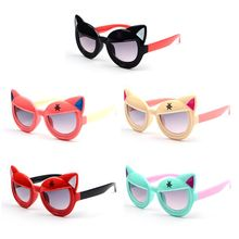 Sunglasses Kids Brand Designer Cute Cat Fashion For Children Boys Girls Infant Goggles UV400