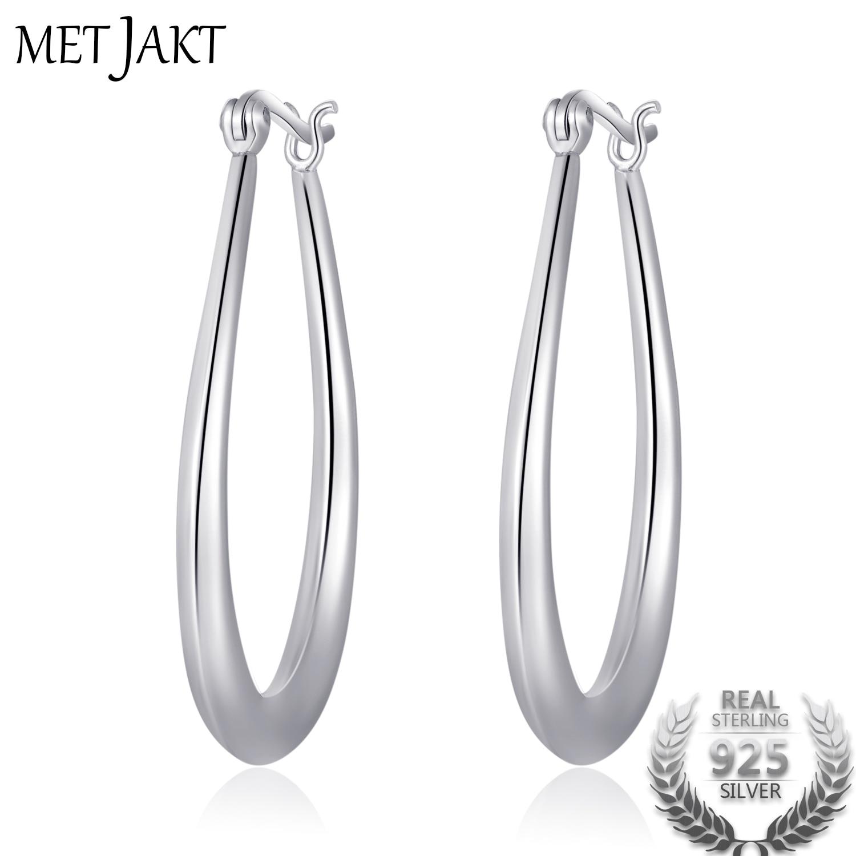 Sterling Silver Oval Loop Earrings