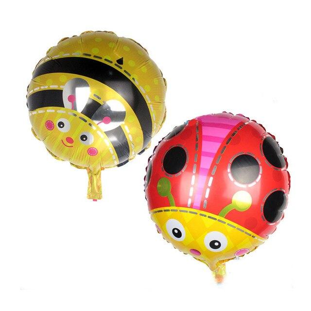 Cartoon Ladybug Foil Balloon Yellow Red Ladybird Happy Birthday Party Wedding Decoration Inflatable Air Balloon Kids Child Toys