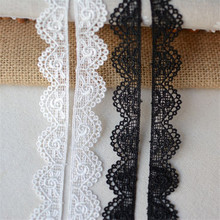 1Yard/lot Width 2cm White Black cotton embroidered mesh lace Garment lace trims trimmings DIY Sewing accessories