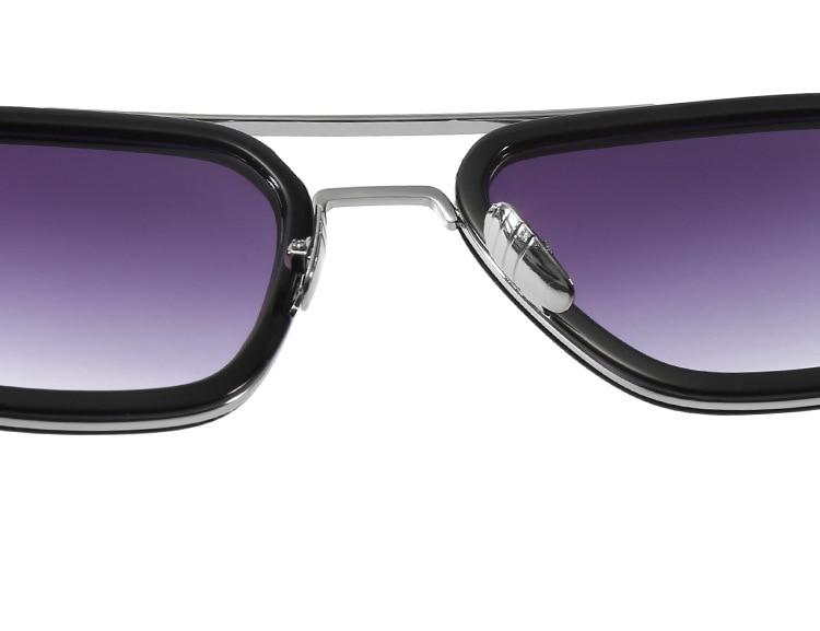luxury Fashion Avengers Tony Stark Style for women Sunglasses Men Square Brand Design Sun Glasses Oculos Retro male iron Man 21