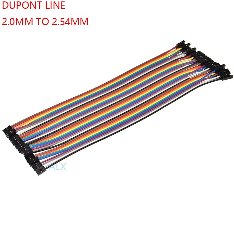 20 шт 20 см DUPONT LINE 2,0 мм Женский до 2,54 мм Женский шаг 2,54 до шаг 2,0 2 P-1 P Соединительный кабель провод для PCB коннектора