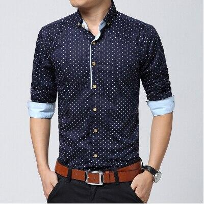 Livraison Gratuite 2017 Homme de mode slim fit casual,Shirt, hommes chemise  à manches longues camisa masculina, Style classique .