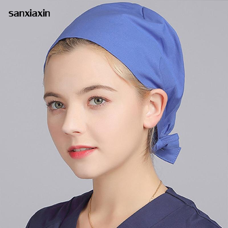 New Unisex Pharmacy Nurse Cap Doctor Surgical Hospital Adjustable Medical Surgery Caps Scrub Lab Clinic Dental Operation Hat