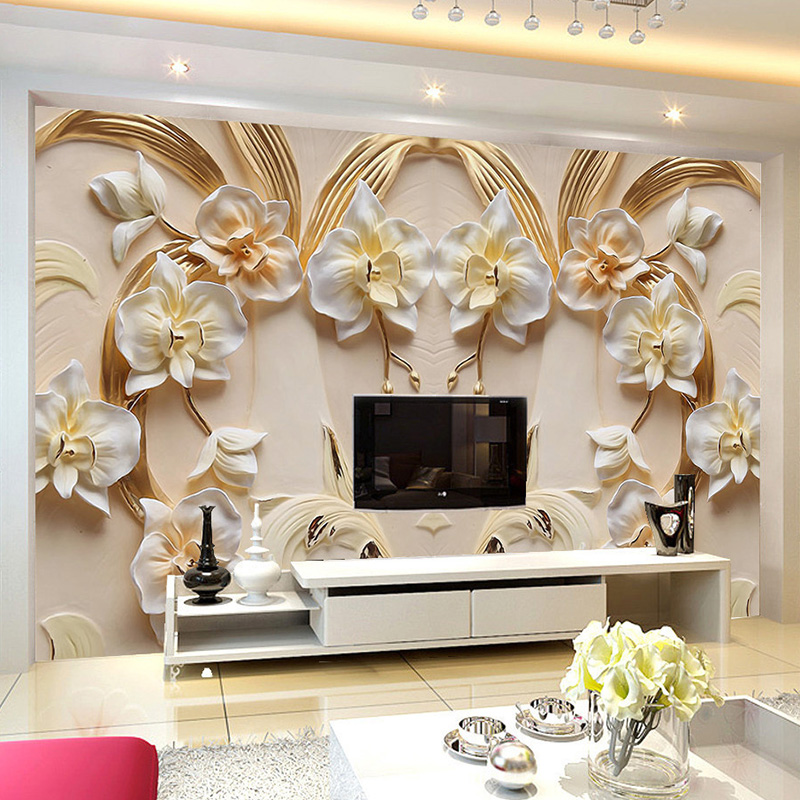 Custom Photo Wallpaper 3D Relief Butterfly Orchid Background Wall Mural Living Room TV Sofa Home Decor Classic Wall Paper Rolls Herbal Products f4843c1c797abf1a256c88: 1 ㎡