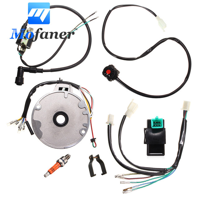 mofaner motorcycle dirt pit bike cdi for spark plug switch magneto rh aliexpress com Otorcycle Wiring Harness Custom Harley Wiring Harness
