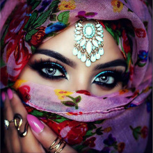 India beauty DIY 5D diamond painting india girl embroidery middle east full rhinestones mosaic