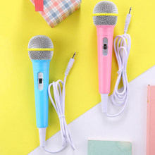 Boy Girl Christmas Gift Kids Wired Microphone Musical Instrument Singing MIC Children Funny Gift Music Toy Microphone Toy(China)