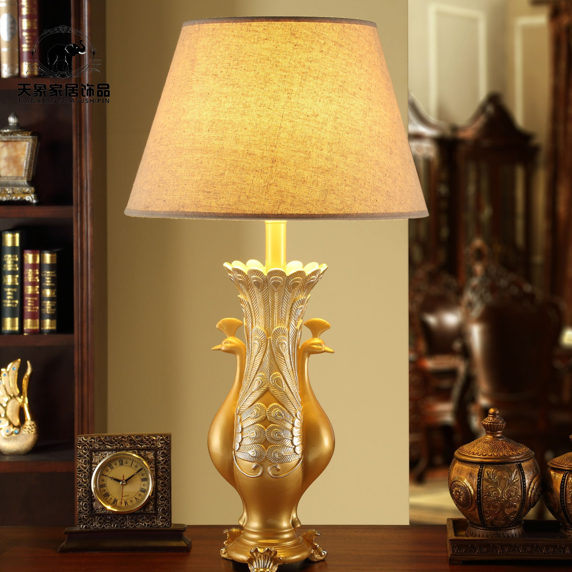 Aliexpress buy lamps table lamps europe type desk lamp aliexpress buy lamps table lamps europe type desk lamp wedding bed warm sitting room the peacock modelling lamp from reliable lamp table lamp geotapseo Gallery