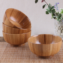 Creative wooden bowls kids tableware Baby dishes salad ramen rice for food health Chinese instant noodles