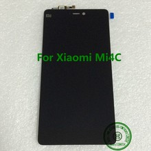 Black TOP Quality Full LCD Display + Touch Screen Digitizer Assembly For Xiaomi Mi4c Mi 4c M4c Replacement Parts Free Shipping
