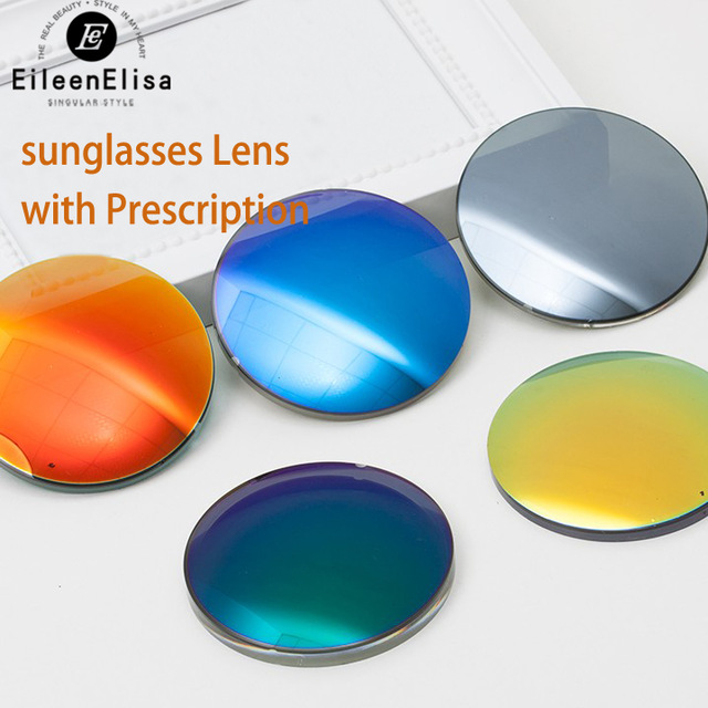 Sunglasses Lens with Prescription 1.56 Index Sunglasses Colored Lenses Eye Lenses Myopia Optical Sunglassses Lenses