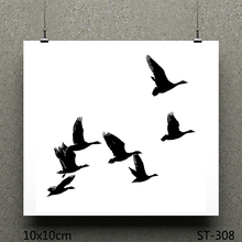 AZSG Swans flying south Clear Stamps/seal for DIY Scrapbooking/Card Making/Photo Album Decoration Supplies