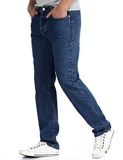 Man's Jean Relax Trousers Comfortable Straight Fashion Pants