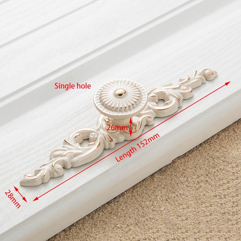 KAK цинк Aolly цвета слоновой кости ручки для шкафа кухонный шкаф дверные ручки для выдвижных ящиков Европейская мода оборудование для обработки мебели - Цвет: Handle-8105-S