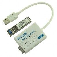 USB 3,0 до 1000 Мбит/с Gigabit Ethernet LAN волоконно оптическая сетевая карта Realtek RTL8153 с оптический sfp модуль белый