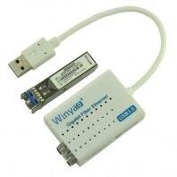 USB 3.0 до 1000 Мбит/с gigabit ethernet lan Волокно оптический сетевой карты Realtek rtl8153 с SFP оптический модуль белый