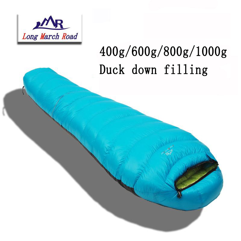 ФОТО LMR ultra-light camping down sleeping bag can be spliced filling 400g/600g/800g/1000g white duck down sleeping bag