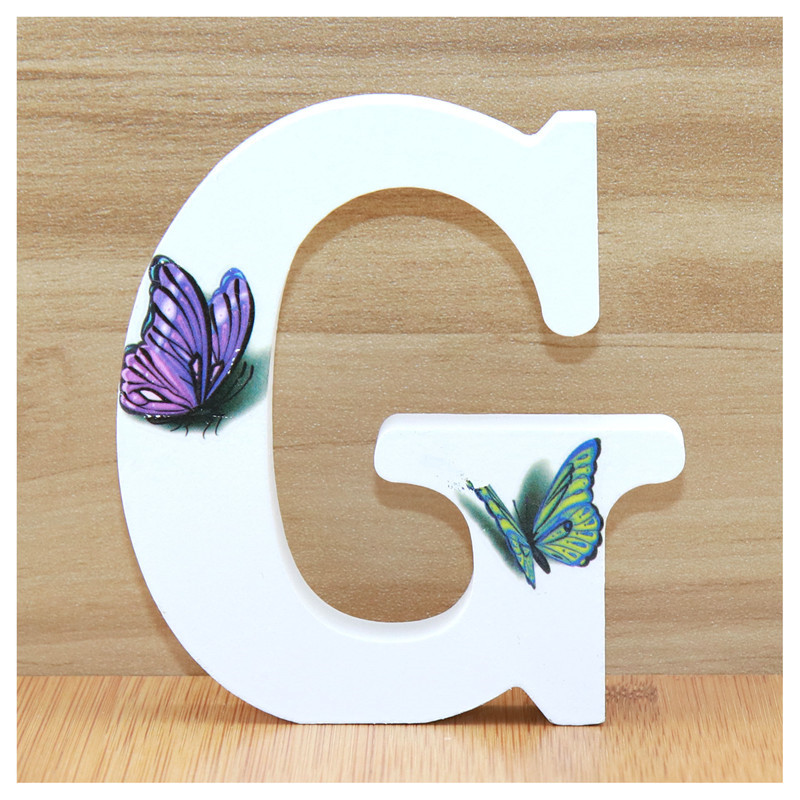 US $0 59 34% OFF|1pc 10cm 3D Butterfly Wooden Letters Decorative Alphabet  Word Letter Name Design Art Crafts Hand Made Standing Shape Wedding DIY-in