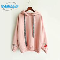 2016 Korean Style Women Loose Pullover Hoodies Autumn Women Polyester Hoodie Pullovers Plus Size