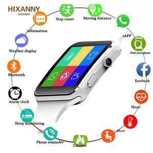 Image 1 - 2019 Смарт часы с поддержкой SIM TF карты h камера умные часы Bluetooth циферблат/с камерой сенсорный экран для iPhone Xiaomi Android IOS