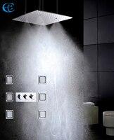 50X50 см пылевой и дождевой роскошный душ для ванной кран Набор насадки для душа большой поток воды Ванная комната Душ клапан Spa дома