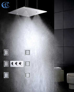 50X50 CM Atomizing And Rainfall Luxury Bathroom Shower Faucet Set Shower Head Large Water Flow Bathroom Shower Valve Spa At Home - DISCOUNT ITEM  29% OFF All Category