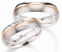 custom made surgical stainless steel titanium engagement wedding rings sets for lovers