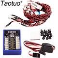 Taotuo LE858 12 СВЕТОДИОДНЫЙ Проблесковый Маячок Системы Для RC Автомобилей Multi-color Освещение Украшения Набор Частей Игрушки