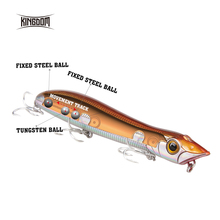 Kingdom Fishing Hard Lure Floating Popper Fishing Wobblers 110mm 12.6g,125mm 17.8g Topwater For Seabass Pike Model 6501