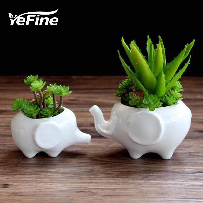 YeFine Սպիտակ կերամիկական բույսերի - Այգու պարագաներ