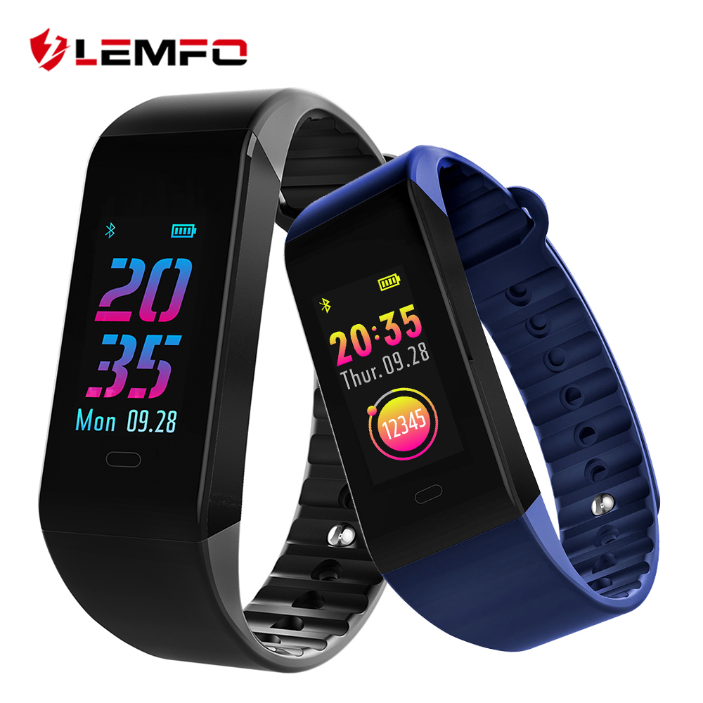 LEMFO Smart Wristbands 2018 Fitness Bracelet Heart Rate Monitor Smart Band 6 UI Face Fitness Bracelet Band for IOS Android Phone mpow d6 smart bracelet for ios android phones