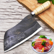 Liang Da Handmade Carbon Steel Sharp Slicing Fish Knife Professional Fillet Knives Kitchen Cutting Meat Vegetable Cleaver