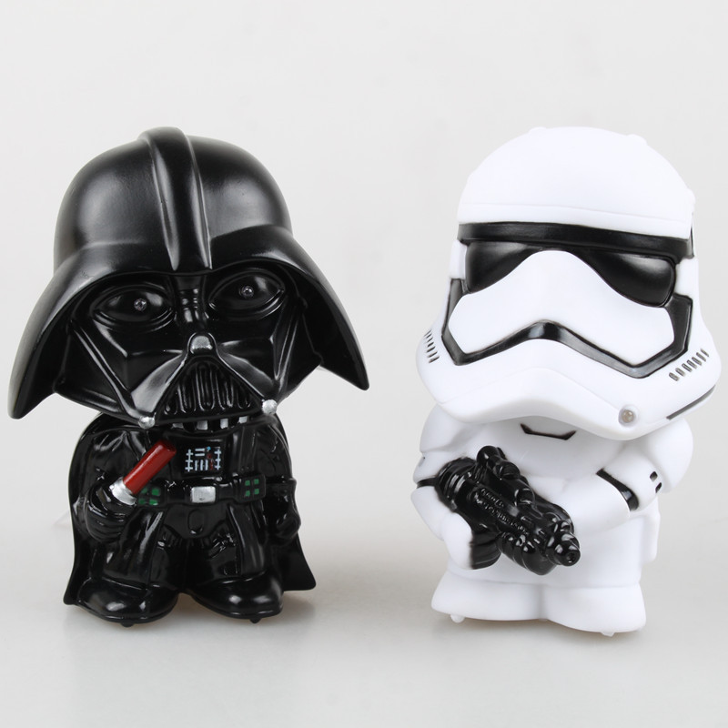 Star Wars The Force Awakens Darth Vader Stormtrooper PVC Action Figure Toy with Sound Light 13cm KT1832