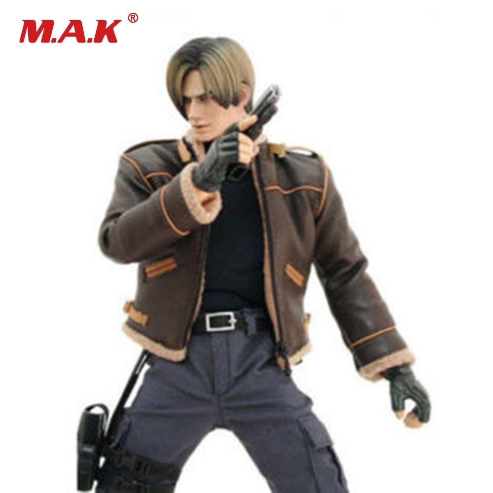 1/6 масштаб Resident Evil Леон кожаные пальто армейские брюки комбинезоны с Сумка для 12 мужской фигурку тела аксессуар ...