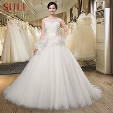 SuLi SL-024 A line O-neck Beading Sleeveless Wedding Dress