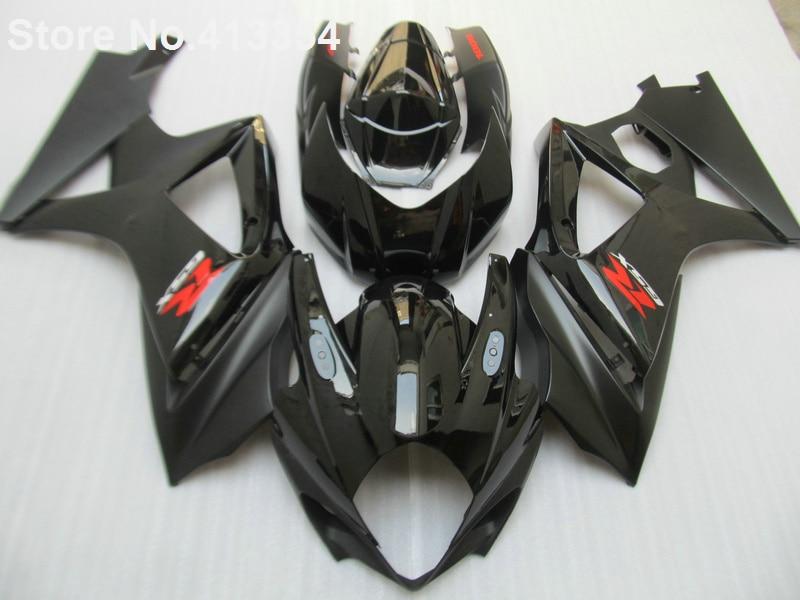 Для Suzuki GSXR 1000 07 08 глянцевый черный мотоцикл обтекатель комплект для GSXR1000 2007 2008 RY03