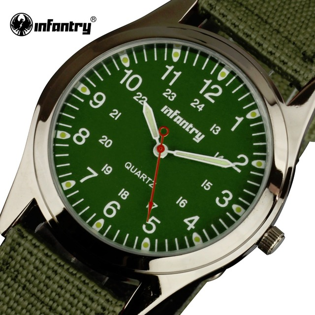 INFANTRY Fashion Luxury Brand Sport Men Watches Ultra Thin Nylon Quartz Casual Wristwatches 24 Hrs Display Male Clocks Relogio