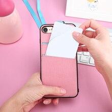 Baseus кожаный чехол Для iPhone 7 чехол с слот для Карт для iphone 7 плюс случае упаковка + ремешок кошелек кожа Карты Случае