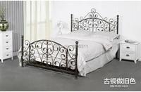 Noble cama de ferro cama de 1.5 metros 1.8 pastoral de ferro rack de princesa