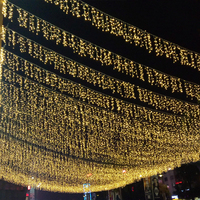 8m*0.5m LED Icicle Curtain Lights String Wedding Garland Holiday Decoration Light Christmas Outdoor Garden Patio Lighting JQ