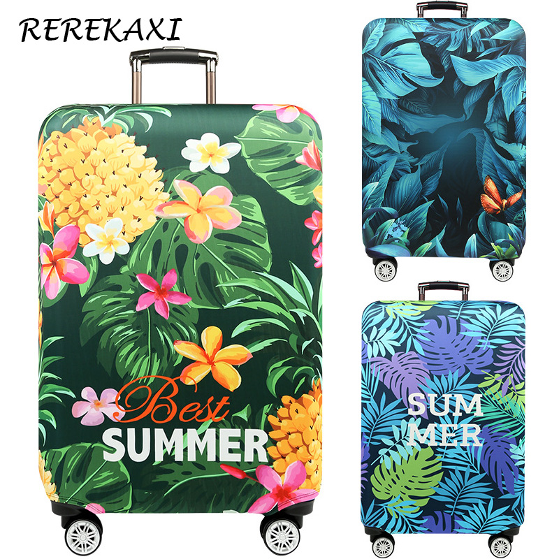 Plant Flower Thicken Luggage Cover Travel Accessories For 18-32Inch Suitcase,Trolley Elastic Protection Covers Dust Case Cover