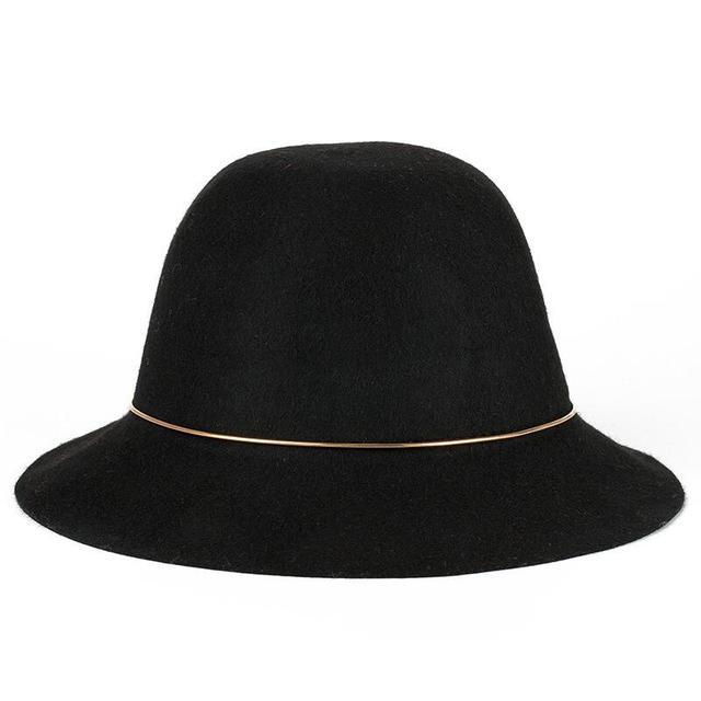 e6b36e1940b09 Elegant Winter Hats for women fashion design High Qualtity Australian Wool  Fedoras hats Ladies Big ring Wide-brimmed prom Hat