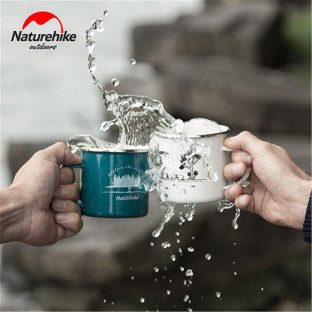 NatureHike classical enamel cup outdoor camping hiking fish fast milk water mugs coffee tea cups