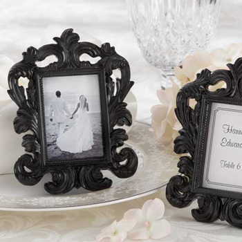"""Wedding gifts of """"Black Baroque"""" photo frame Elegant wedding place card holder or picture frame  30pcs/lot  Free Shipping"""